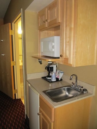 Holiday Inn Express Hotel & Suites London: Sink and Frig Room 203