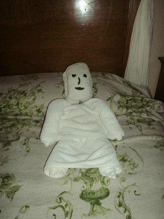 The Makadi Palace Hotel: Funny towel art!