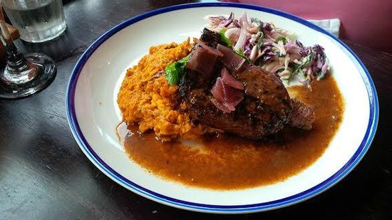 Turtle Bay: Steak with Sweet Potato Mash