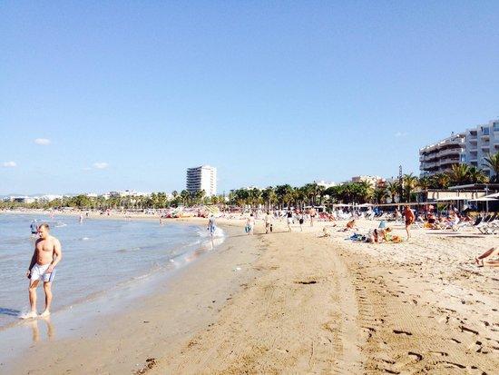 Santa Monica Playa: Ближайший пляж к отелю. Начало июня