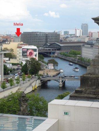 Meliá Berlin: hotel from Reichstag