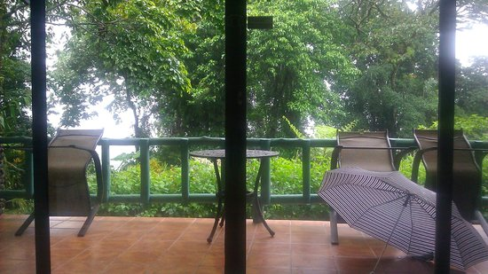 Arenal Observatory Lodge & Spa: Gorgeous view of our standard room patio, grounds, and lake
