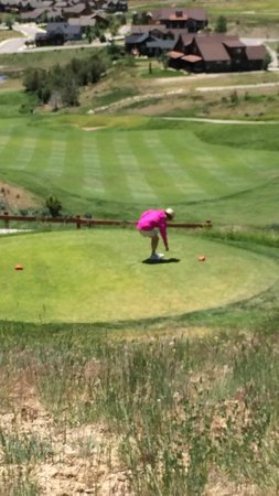 Lakota Canyon Golf Course: From one tee box looking to woman's tee