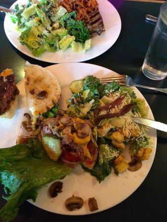 Juicy Lucy's Steakhouse: half eaten burger