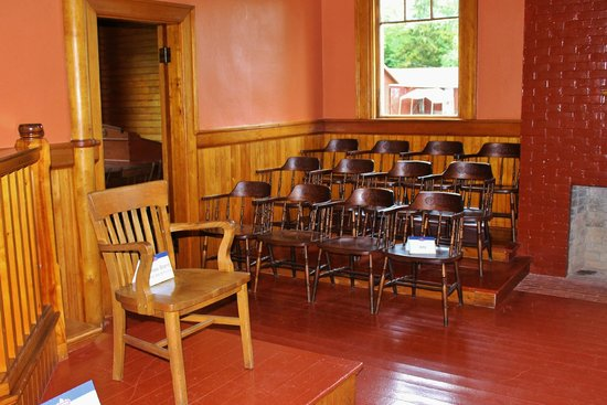 Albert County Museum: Jury area of the courthouse