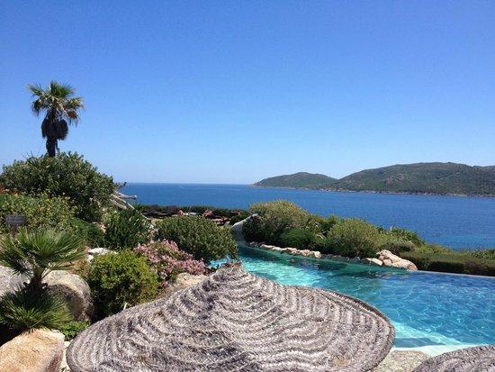 Hotel U Capu Biancu : Vue de la piscine