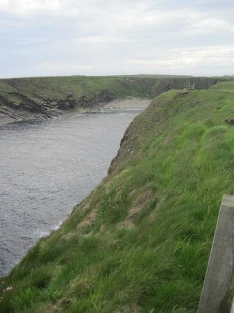 sea cliffs near the Tomb of the Eagles