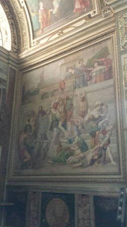 Church of St. Louis of the French: Domenichino:l'elemosina di santa Cecilia