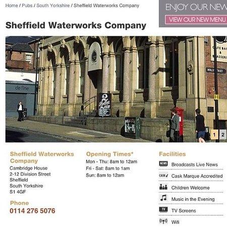 Sheffield Waterworks Company Lloyds no.1: Sheffield Waterworks