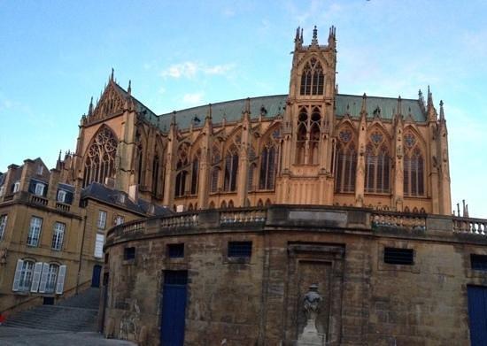 Cathédrale Saint-Étienne : Vue panoramique de la cathedrale de Metz