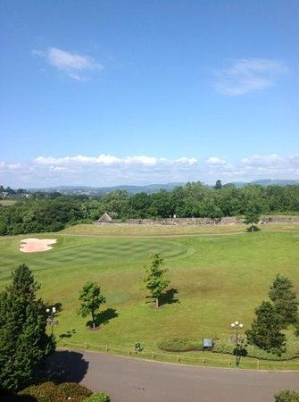 Celtic Manor Resort: morning view from our room