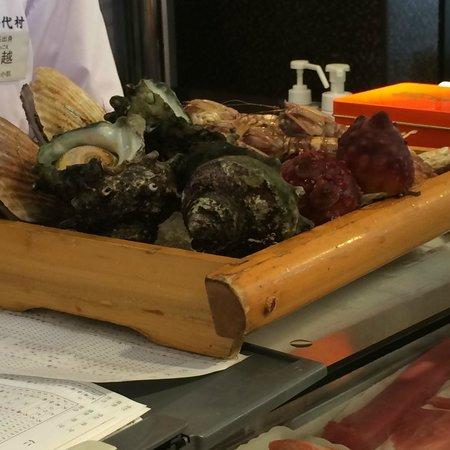 Sushizanmai Honjin: a sea food order