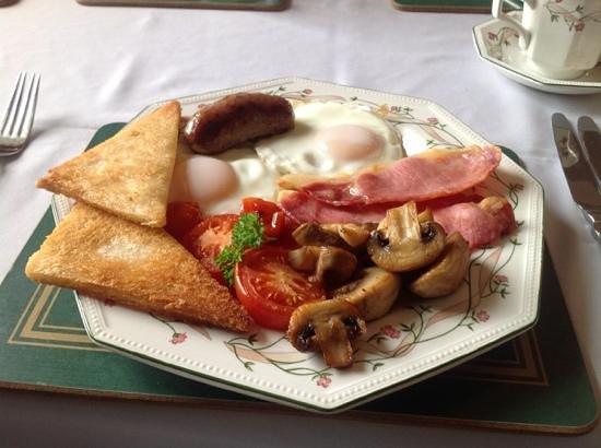 The Grange: breakfast at Grange Farm - as good as it looks!