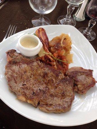 Restaurant Les 3B : Faux filet sauce roquefort