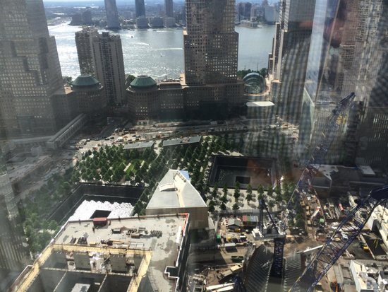 Millenium Hilton: View over WTC from 43rd floor