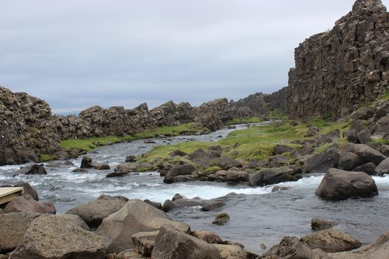 Pingvellir National Park Campground: Pingvellir Falls, stream