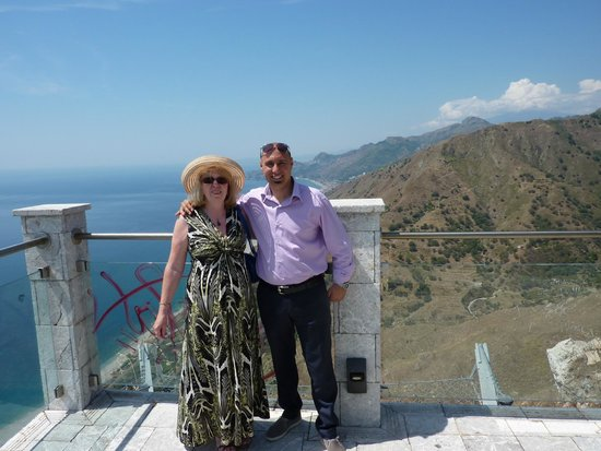 New Travel Services Sicily Experts: Christian showing us an amazing view on the Godfather Tour