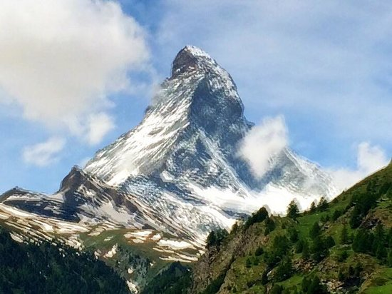 Allalin Swiss Alpine Hotel: Vue depuis la chambre