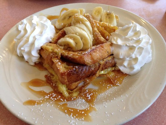 Flames Coffee Shop Winchester: Banana Carmel French toast.