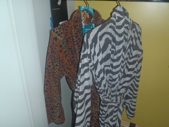 Kimpton Hotel Wilshire: His and her robes provided by hotel