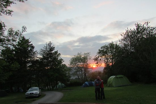 Castlerigg Hall Caravan and Camping Park: sunset