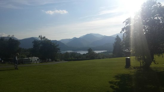 Castlerigg Hall Caravan and Camping Park: lake -campaite view
