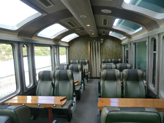 PeruRail - Vistadome: Inside of carriage