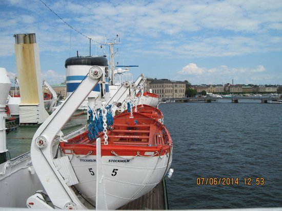 M/S Birger Jarl Hostel & Hotel: view from the sundeck