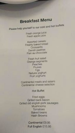 "Hard Days Night Hotel: The ""Fresh"" breakfast menu"