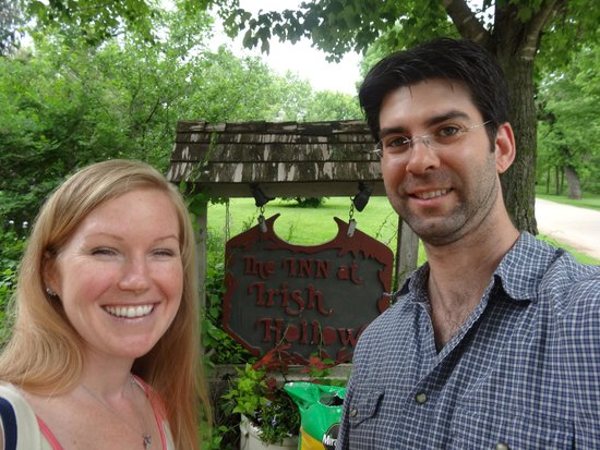 The Inn at Irish Hollow: Happy couple after rejuvenating weekend!