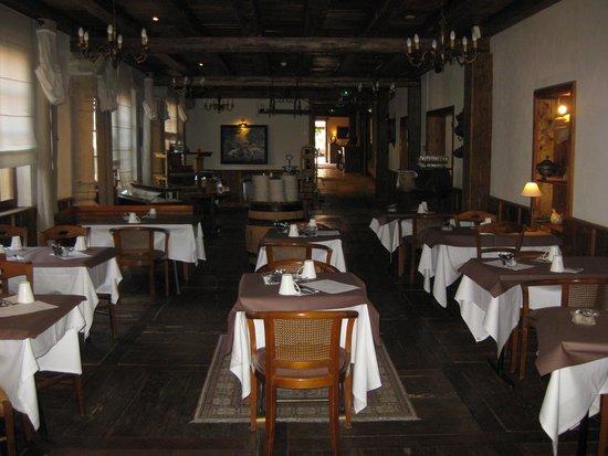 Hostellerie a la Ville de Lyon : salle petit-déjeuner
