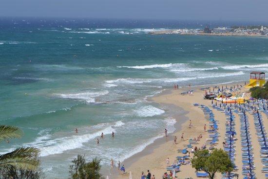 Grecian Sands Hotel: Beach from the Hotel - Grecian Sands Ayia Napa