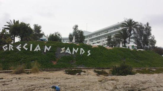 Grecian Sands Hotel: Hotel from the Beach - Grecian Sands Ayia Napa