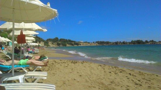 Pefkos Beach: golden sand