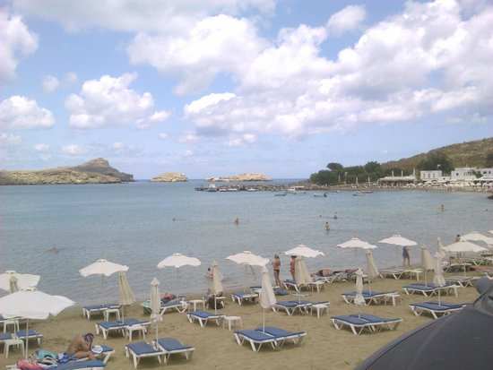 Pefkos Beach: from another angle