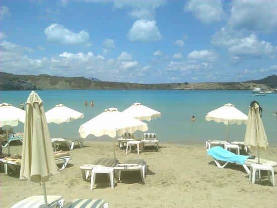 Pefkos Beach: beach view