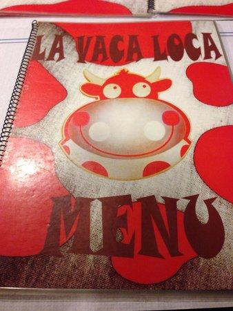 Restaurante Grill La Vaca Loca: Menu Cover