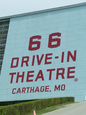66 Drive-In Theatre: Yes, it does look like the back of a screen!
