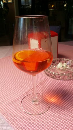 Hotel D'annunzio: Venetian Spritz at the hotel bar. Try the Hugo Spritz instead. So much better
