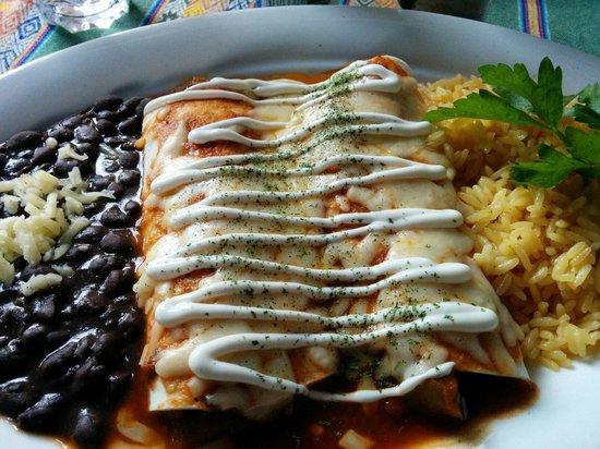 Manana: Vegetarian enchiladas.