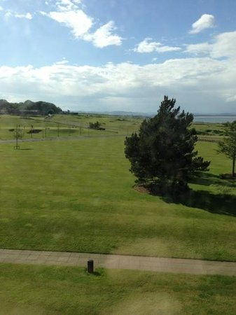 Fairmont St Andrews: looking across the golf course toward the bay