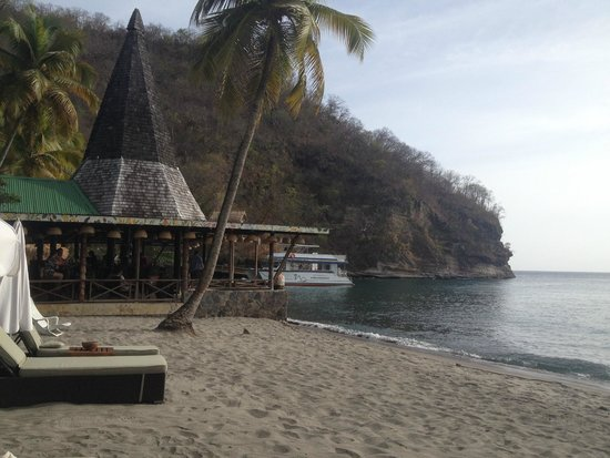 Anse Chastanet : Restaurant on the beach