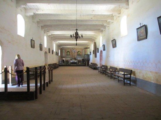 La Purisima State Historical Park : Inside the church