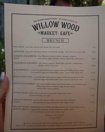 Willow Wood Market Cafe: Willow Wood Market Brunch Menu