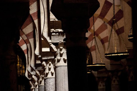 Cathédrale de Cordoue : L'interno della cattedrale con un bellissimo taglio di luce.