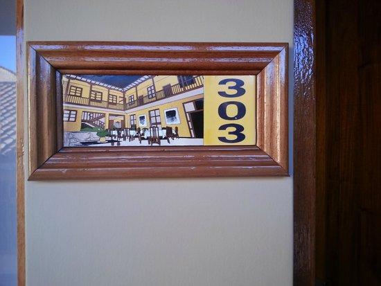 Hotel Los Andes de América: Room number plaques