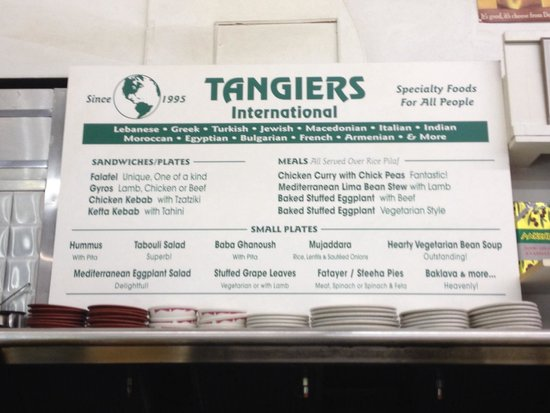 Tangiers International: You will want to try everything!!!