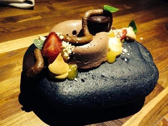 Restaurant Locavore: Dessert heaven served on a rock. wow!