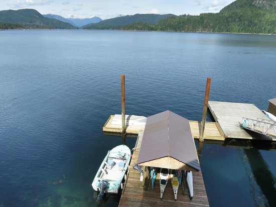 Discovery Islands Lodge : View from lodge