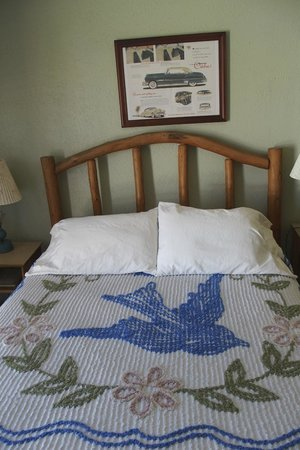 Blue Swallow Motel: Room with Blue Swallow chenille spread